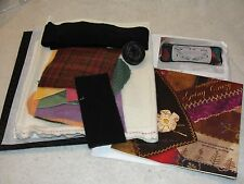 """A WOMAN'S DESIRE Embroidered Wool Crazy Quilt Pillow Kit 10x23"""""""