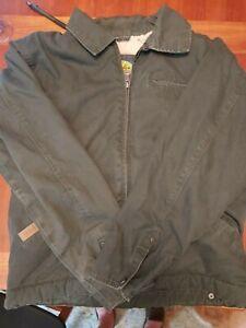 Cabela's Men's Roughneck canvas lined jacket/coat  M  Super Nice!!  Dark gray!