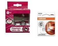 H7 MegaLight Ultra +90% bis 90% mehr Licht Autolampe 2St GE + W5W Osram Original