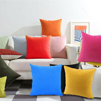 2x Plain Dyed Cushion Covers 100% Percale Cotton Sofa Pillow Case Home Decor 18""