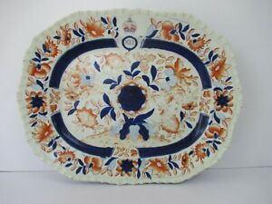 "Hicks & Meigh Ironstone China Dinner-Service Blue Printed Royal Arms 1820 Cir""F2"
