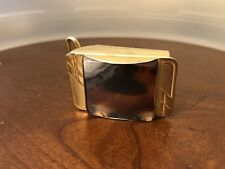 Gold Tone Belt Buckle Beautiful Vintage 70's Agate