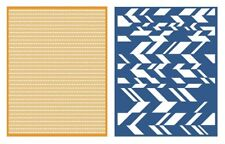 LIFESTYLE CRAFTS QUICKUTZ  CHEVRON  GOOSEBUMPZ EMBOSSING FOLDERS  EF0027 A2