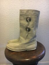 Vintage off white Minnetonka moccasin boots booties women's size 8 Made in Usa