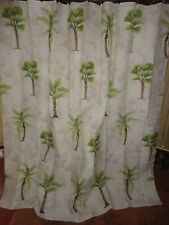 HOME TRENDS PALM BREEZE TREES GREEN TAN SHOWER CURTAIN 70 X 70 TROPICAL