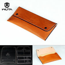 Wuta Wallet Leather Template Double Buckle Acrylic pattern Craft Tool Wt859