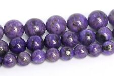 Natural Deep Purple Charoite Beads Grade A Round Loose Beads 4/6/8/10MM