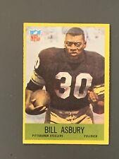1967 Philadelphia #146 Bill Ashbury Rookie Pittsburgh Steelers EX