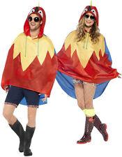 Papagei Party Poncho Regenschutz NEU - Damen Karneval Fasching Verkleidung Kostü