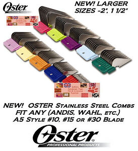 OSTER STAINLESS STEEL A5 Universal GUIDE COMB*Fit Many Andis,Wahl Clipper&Blade