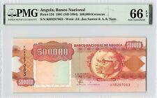 Angola 1991 (ND 1994) P-134 PMG Gem UNC 66 EPQ 500,000 Kwanzas