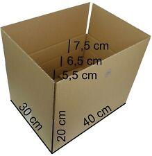 100 Kartons 400x300x200 1.1 B-Welle Versandkarton Kartons Verpackung Faltkarton