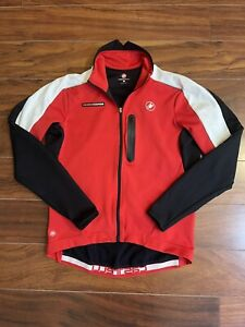 Castelli Rosso Corsa Wind Stopper Long Sleeve Cycling Jersey Women's Size XL