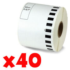 40 Roll 2-7/16 x 105ft 62mm DK-2205 Continuous Label Compatible Brother® QL-570