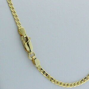 Genuine Brand new 9K Solid Yellow Gold Italian Curb Chain Necklace 45cm - 80cm
