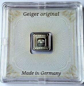 Geiger Edelmetalle 1 gram .999 Fine Silver Square Bar - Encapsulated w/ Assay
