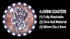4  x  BSA  DBD 500cc ENGINE MOTOR CYCLE MOTORCYCLE - DRINK COASTERS - Re-usable