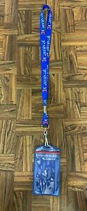 Carnival Cruises Red White Blue Lanyard with Vinyl ID Holder Nice Condition