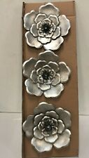 Stratton Home Farmhouse Metal Set Of 3 Wall Decor W/ Silver Finish (S13567)