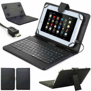 """Universal USB Keyboard PU Leather Case Cover For all 7""""inch Tablet Galaxy Lenovo"""