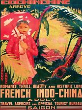 Saigon Arroyo Vietnam French Vintage Asian Travel Advertisement Art Poster Print