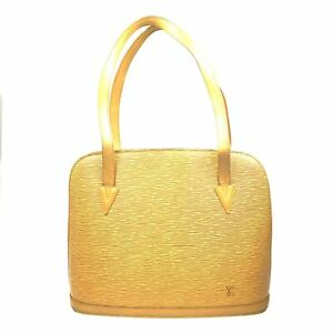 100% Authentic Louis Vuitton Epi Lussac Yellow M52289 [Used] {08-294D}