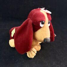 Applause Hush Puppies Basset Hound Dog Plush Bean Bag Stuffed Dog