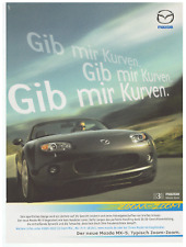 Mazda MX-5.  Original-Werbeanzeige 2006.  Reklame Werbung.