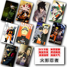 Hot Japan Anime Naruto Hokage 10 pc/set Card Paster IC Card Sticker