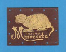 c1910s large tobacco leather University of Minnesota - Gopher - Tough.