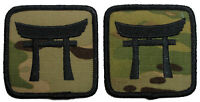 2 Pack - US Army 187th Inf Bde Airborne Multicam Military (HCI) Sew-On Patches