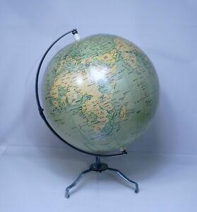 1950' Pilot Pen Company Japan Inflatable Traveling Fold Terrestrial World Globe