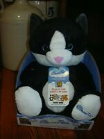 Cloud Pets Cat, black and white, 12 inch NEW