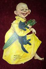 1896 YELLOW KID Trade Card RF Outcault w/ BLACK CAT Made in Germany Wegman Piano