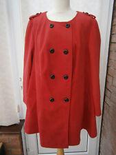 Plus Size Knee Length Button Coats & Jackets for Women