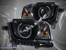 2010-2012 Chevy Camaro Projector Headlights CCFL Halo Black Head Lamps