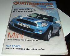 QUATTRORUOTE NOVEMBRE 2006 NUMERO 613 MINI