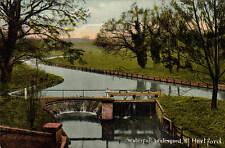 Waterford near Hertford. Waterfall by E. Munnings, Hertford # D 465/946.