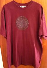 STRUCTURE LONGBOARDS Surf Safari medallion logo med T shirt maroon tee