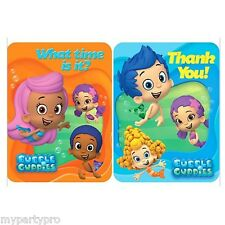 BUBBLE GUPPIES BIRTHDAY PARTY supplies (INVITATIONS/ THANK YOU) FREE SHIPPING
