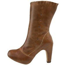 Fly London Frol Chaussures Femme 40 Bottes Bottines Camel Tan Talons Neuf UK7