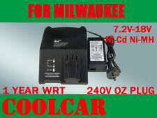 Battery Charger for MILWAUKEE AEG ATLAS COPCO 7.2V-18V 12V 14.4V Ni-Cd Ni-MH AU