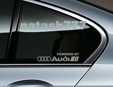 Powered by Audi Racing Sport S Line Window Decal sticker emblem logo SILVER Pair