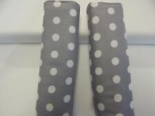 Baby Seat Strap Covers Car Capsule Highchair Stroller Pram - White Spots On Grey