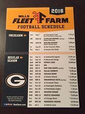 Green Bay Packers 2016 NFL Magnet Schedule - Mills Fleet Farm