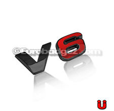 NEW VW Volkswagen Jetta Passat GTI Golf GLI Black Emblem Badge 19mm V6 BLACK RED