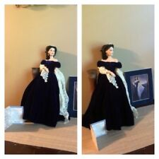 New ListingScarlett o'Hara Gone with the Wind Portrait with Pedestal Franklin Mint