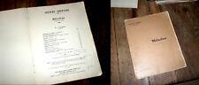 13 mélodies partition piano chant pour voix élevées 1911 Henri Duparc