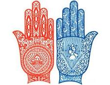 4 Henna Reusable Rubber Hand Stencils For Henna Temporary Tattoos