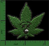 Marijuana Cannabis Weed Pot Leaf Stoner 420, Iron-On/Sew-On Embroidered Patch OZ